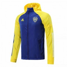 Boca Juniors All Weather Windrunner Football Jacket Blue 2021