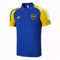 Boca Juniors Blue Football Polo Shirt 2021