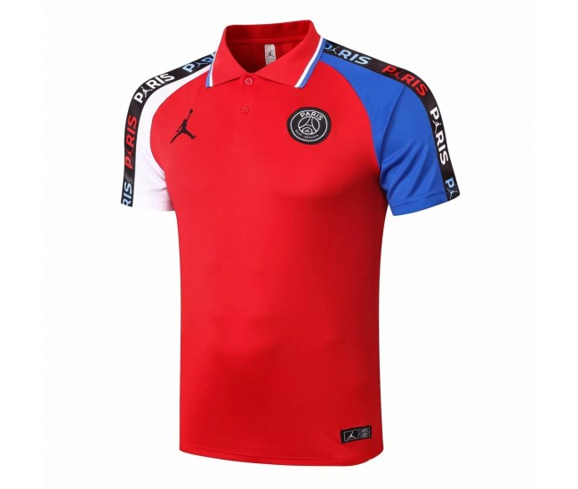 PSG Jordan Training Red Polo Shirt 2020