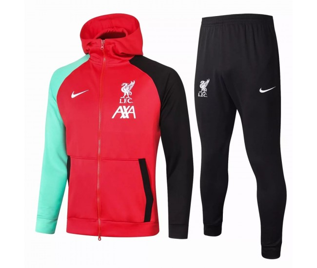 Liverpool FC Training Technical Football Tracksuit Red 2021