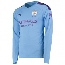 Manchester City Home Long Sleeve Shirt 2019-20