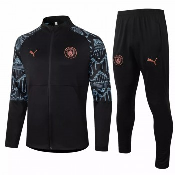 Manchester City Training Presentation Football Tracksuit 2020 Black