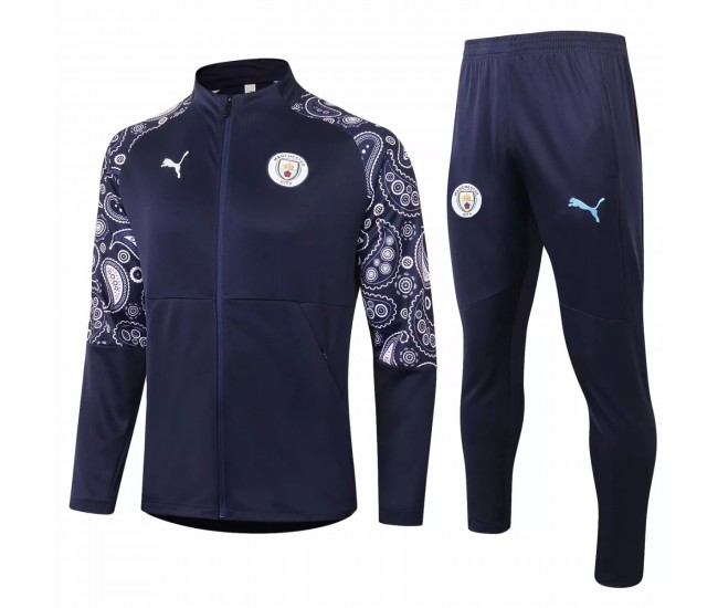 Manchester City Training Presentation Football Tracksuit 2020 Navy