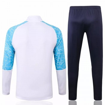 Manchester City Training Presentation Football Tracksuit 2020 White