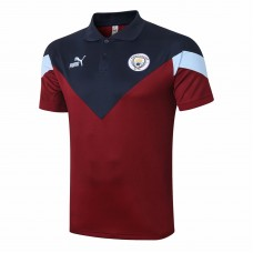 PUMA Manchester City FC Icon Red Polo Shirt 2020