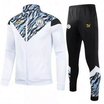 2021 Manchester City Pre Match Training Presentation Soccer Tracksuit 2021