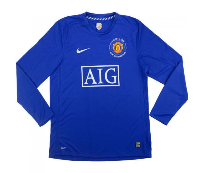 Manchester United Retro Third Long Sleeve Jersey 2008 2009