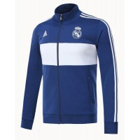 Real Madrid Three-Stripe Full-Zip Blue/White Track Jacket
