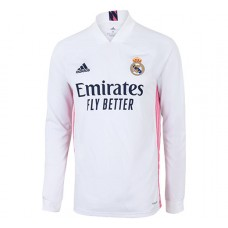 Real Madrid Home Long Sleeve Shirt 2020 2021