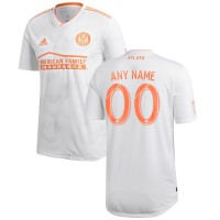 Men's Atlanta United FC adidas White 2018 King Peach Authentic Custom Jersey