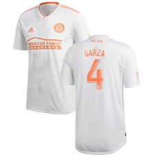 Men's Atlanta United FC Greg Garza adidas White 2018 King Peach Authentic Player Jersey