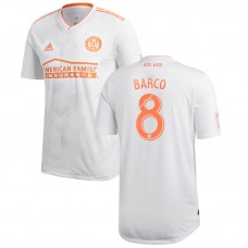 Men's Atlanta United FC Ezequiel Barco adidas White 2018 King Peach Authentic Player Jersey