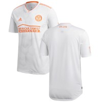 Men's Atlanta United FC adidas White 2018 King Peach Authentic Jersey