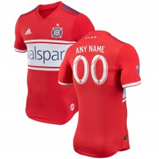 Men's Chicago Fire adidas Red 2018 Primary Authentic Custom Jersey