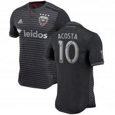 Men's D.C. United Luciano Acosta adidas Black 2018 Primary Authentic Player Jersey