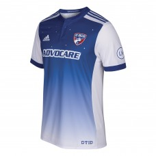 Men's FC Dallas adidas Blue 2017/18 Secondary Authentic Custom Jersey