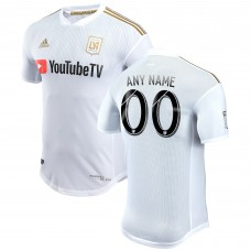 Men's LAFC adidas White 2018 Secondary Authentic Custom Jersey