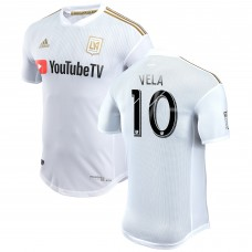 Men's LAFC Carlos Vela adidas White 2018 Secondary Authentic Player Jersey