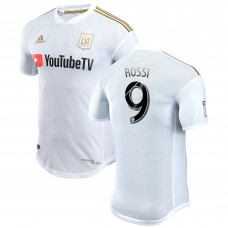 Men's LAFC Diego Rossi adidas White 2018 Secondary Authentic Player Jersey