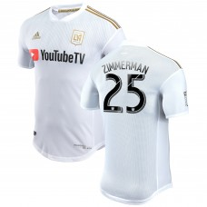 Men's LAFC Walker Zimmerman adidas White 2018 Secondary Authentic Player Jersey
