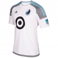 Men's Minnesota United FC adidas White 2017/18 Secondary Authentic Custom Jersey