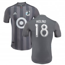Men's Minnesota United FC Kevin Molino adidas Gray 2018 Primary Authentic Player Jersey
