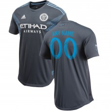 Men's New York City FC adidas Gray 2018 Secondary Authentic Custom Jersey