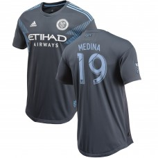 Men's New York City FC Jesús Medina adidas Gray 2018 Secondary Authentic Player Jersey