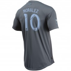 Men's New York City FC Maximiliano Moralez adidas Gray 2018 Secondary Authentic Player Jersey