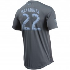 Men's New York City FC Ronald Matarrita adidas Gray 2018 Secondary Authentic Player Jersey