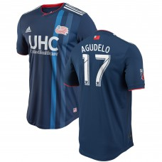 Men's New England Revolution Juan Agudelo adidas Navy 2018 Primary Authentic Player Jersey