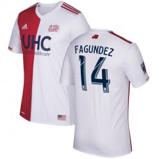 Diego Fagundez New England Revolution adidas 2017/18 Secondary Authentic Jersey - Red/White