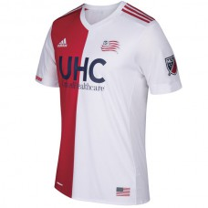 New England Revolution adidas 2017/18 Secondary Authentic Custom Jersey- Red/White