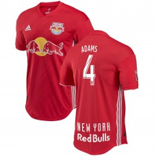 Men's New York Red Bulls Tyler Adams adidas Red 2018 Secondary Authentic Player Jersey
