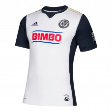 Men's Philadelphia Union adidas White 2018 Secondary Authentic Custom Jersey