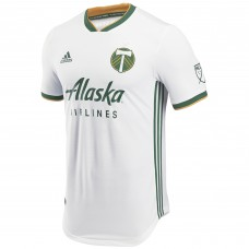 Men's Portland Timbers adidas White 2018 Secondary Authentic Custom Jersey