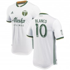 Men's Portland Timbers Sebastián Blanco adidas White 2018 Secondary Authentic Player Jersey