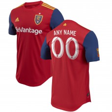 Men's Real Salt Lake adidas Red 2018 Primary Authentic Custom Jersey