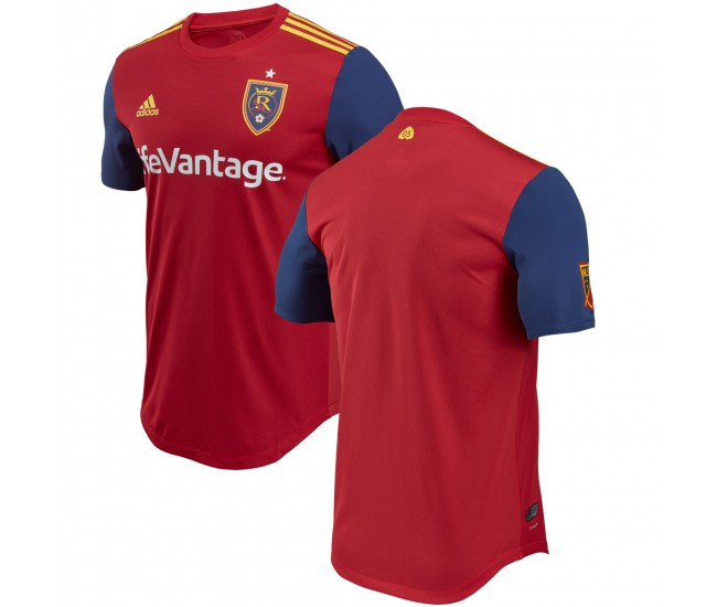 Men's Real Salt Lake adidas Red 2018 Primary Authentic Jersey
