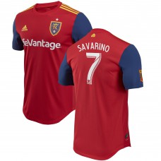 Men's Real Salt Lake Jefferson Savarino adidas Red 2018 Primary Authentic Player Jersey