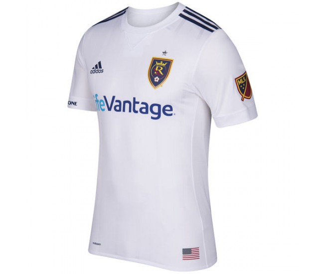 Real Salt Lake adidas 2017 Secondary Authentic Team Jersey - White