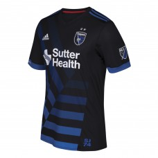 Men's San Jose Earthquakes adidas Black 2017/18 Primary Authentic Jersey