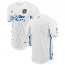 Men's San Jose Earthquakes adidas White 2018 Secondary Authentic Jersey