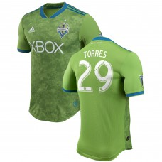 Men's Seattle Sounders FC Roman Torres adidas Green 2018 Primary Authentic Player Jersey