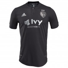 Men's Sporting Kansas City adidas Black 2018 Secondary Authentic Custom Jersey