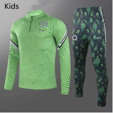 Nigeria Training Technical Football Tracksuit Green Kids 2021
