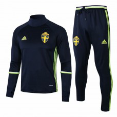 Sweden Navy Training Technical Soccer Tracksuit Euro 2016/17