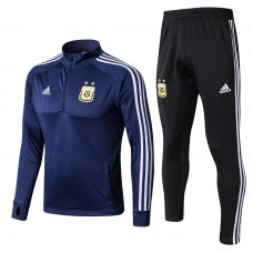 Argentina Blue/Black Training  Soccer Tracksuit 2018/19
