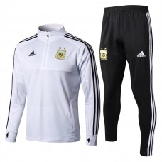 Argentina White/Black Training  Soccer Tracksuit 2018/19