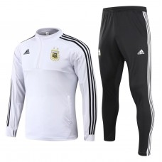 Argentina White/Black Training  Soccer Tracksuit 2018/19 - Kids